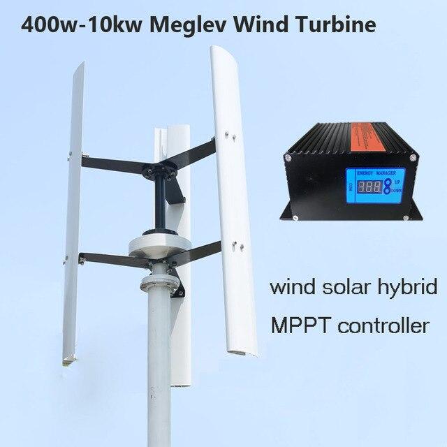 FLTXNY Vertical Wind Turbine Generator 400w 12v 24v 48v 3 Phase With blades  Designed for Home or Streetlight Projects