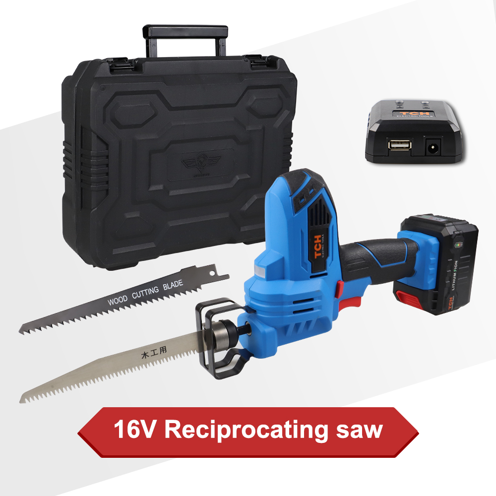 16V MAX Cordless Reciprocating Saw Kit Saber Saw with 4Ah Lithium Battery and 2x Wood Blades