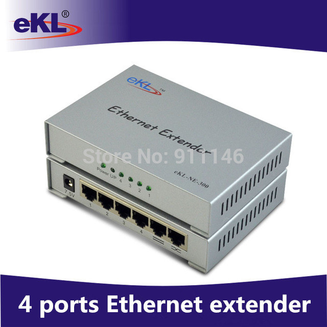 EKL 4 ports Ethernet extender up to 300M/ 984ft, one input and 4 output