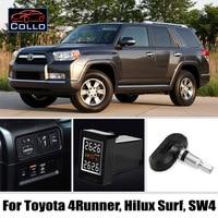 TPMS For TOYOTA 4Runner / Hilux Surf / SW4 / Tire Pressure Monitoring System Of Internal Sensors / Non destructive installation