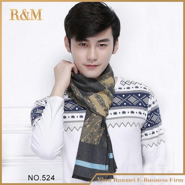 2016 nueva moda moda larga hombres Print abrigo de la bufanda hombre grandes guapos de la bufanda Tole