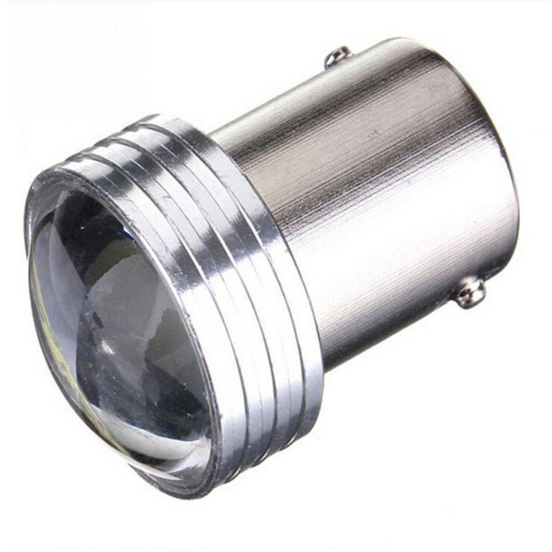 4Pcs Car 1156 BA15S P21W 6 SMD Projector Light LED Turn Signal Lamp Bulbs White light super light