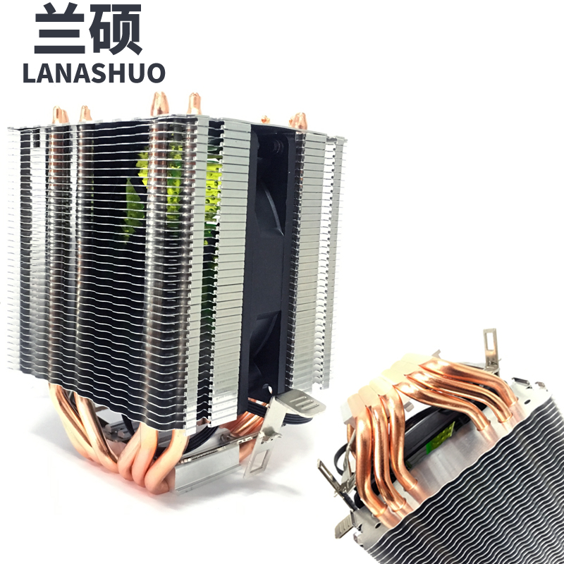 LANSHUO AMD Intel CPU Processor Cooling Cooler Radiator heat sink LED Fan Processor Cooling Fans 775 1155 1150 1366 AM4 AM3 FM2 lanshuo pc amd intel processor cooling 12cm mm 6 heat pipe heat sink radiator fan led cpu cooler lga 775 115x 1366 2011 am3 am4