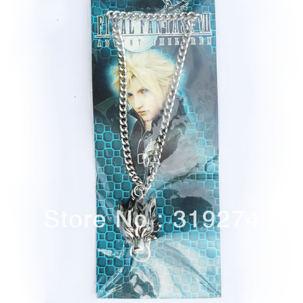 Wholesale/Retail 2012 Free Shipping Final Fantasy Squall's Lion Heart Dragon Pendant Necklace Chain (10pcs/Lot)