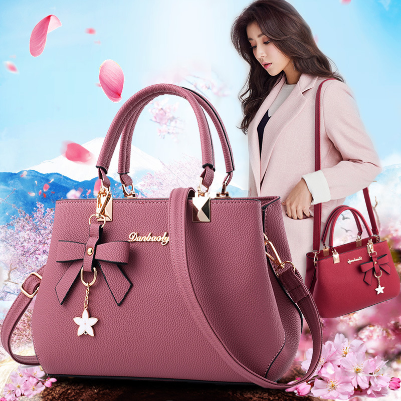 Crossbody Bags For Women New PU Leather Shoulder Bag Handbags Women Flower Pendant Shoulder Bag Sac Femme Women Bag 2019