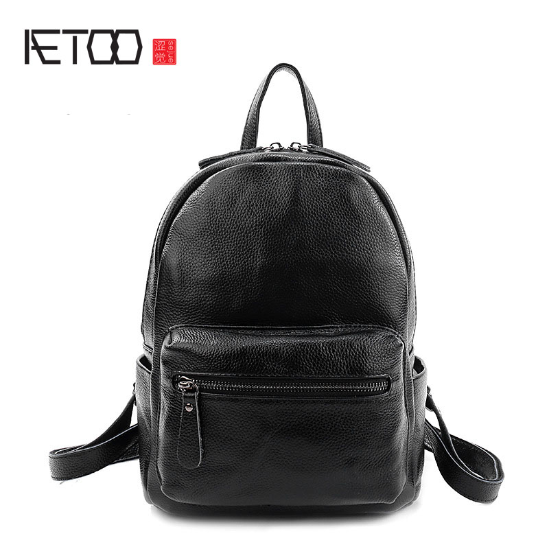 AETOO The new litchi pattern leather shoulder bag women Europe and the United States trendy leather shoulder bag backpack aetoo europe and the united states fashion new men s leather briefcase casual business mad horse leather handbags shoulder