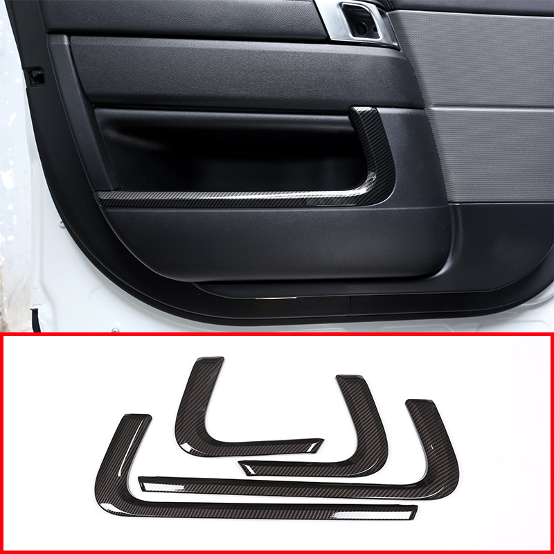 ABS Plastic Inner Door Decoration Strips Trim Car Accessories carbon fiber style for Land Rover Range rover RR Sport 2014-2018