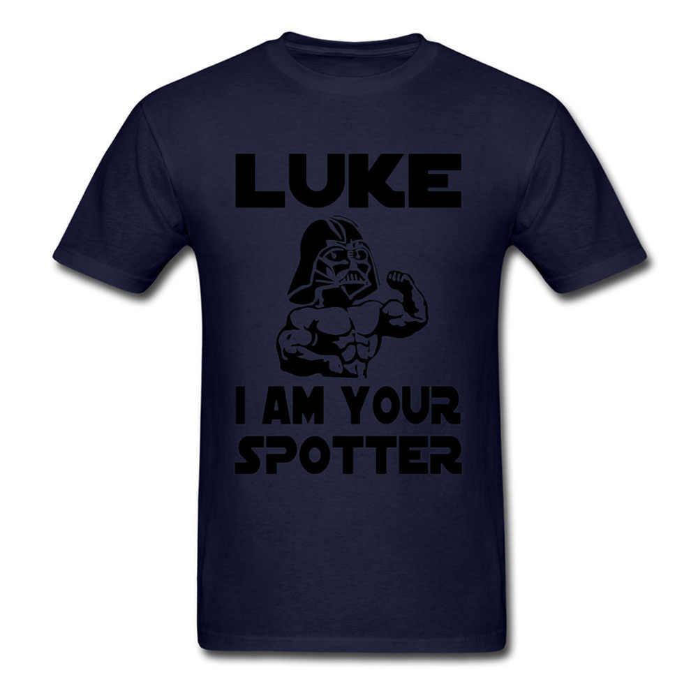 Star Wars T-Shirt Degli Uomini di Lettera Tshirt Luke Sono I Vostri Spotter Divertente T Camicette Hip Hop Nero Bianco Magliette Comics film Magliette e camicette Darth Vader