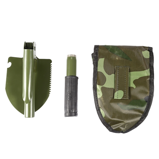 Survival Spade Emergency Garden Camping Outdoor Tool with Bag Mini Multi-functional Military Folding Shovel Exploration