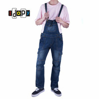 Classic Men S Plus Size Denim Bib Overalls Multi Pockets Light Washed Blue Oversized Jumpsuits For