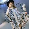 New Scarfs Fashionable Winter Plaid Cashmere Scarf Women Poncho Brand Echarpe Scarves Cape Pashmina Warm Shawl