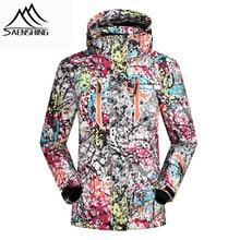 SAENSHING Winter Ski Jacke Frauen Wasserdicht Winddicht Snowboard Mantel Schnee Weibliche Warme Outdoor Mountain Ski Anzug Für Mädchen