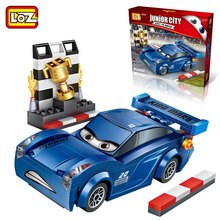 LOZ Single Sale Mini Jackson Storm DIY Cartoon Dolls Diamond Bricks Blue Cars Building Blocks Kids Toy for Children Gift 233PCS(China)