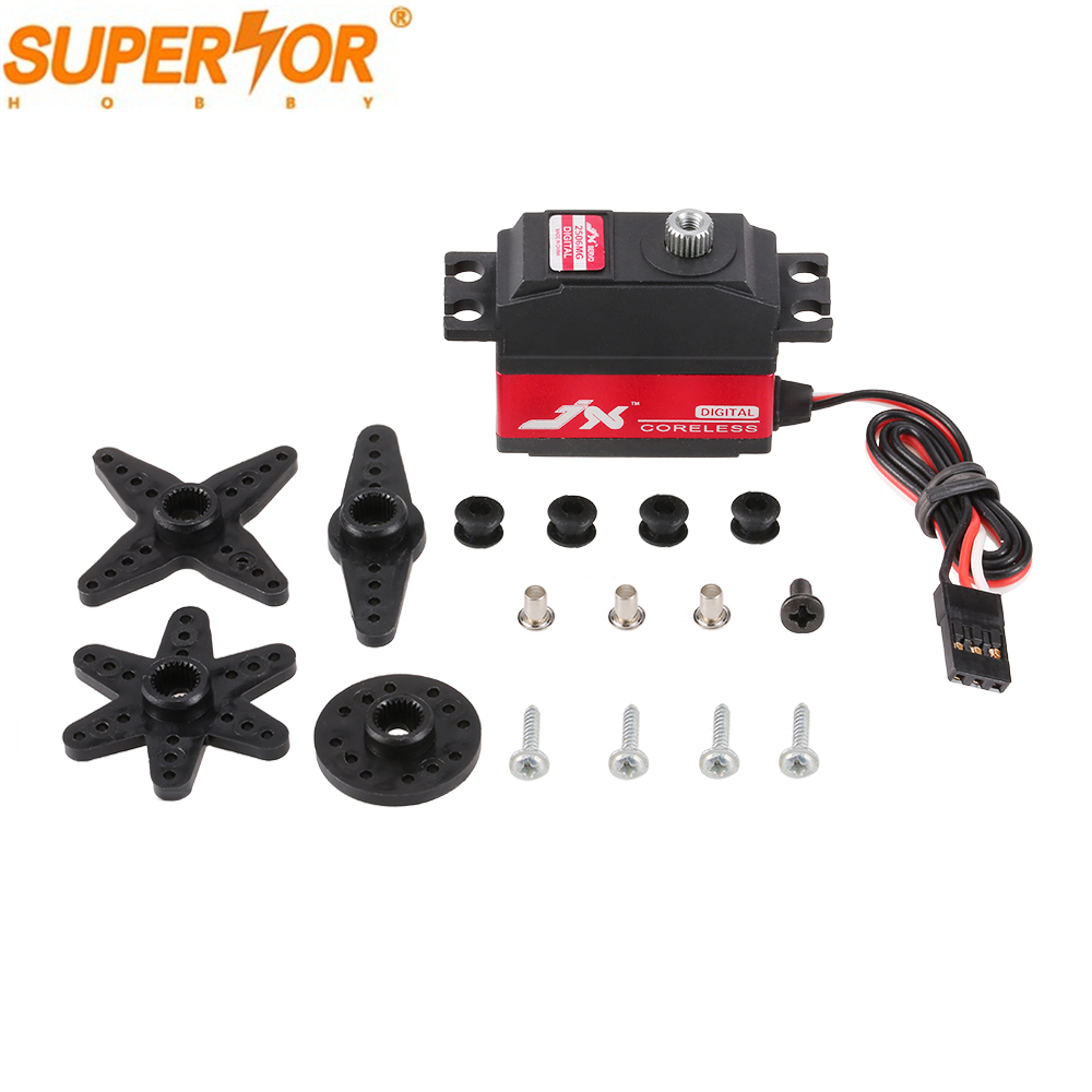 JX servo PDI-2506MG 25g Metal Gear digital coreless servo for 450 500 helicopter fixed wing Airplane helicopter
