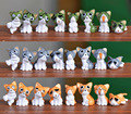 (8 pçs/lote) Queijo gato estatuetas em miniatura brinquedos bonito encantador Modelo Kids Brinquedos 1.5-3 cm anime Japonês crianças figura do mundo. PY166