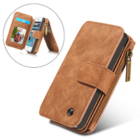 CaseMe Magnetic Genuine Leather Case For IPhone 5S SE Multi Functional Wallet Case Filp Cover With