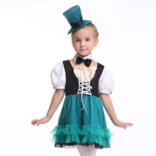Girls Halloween Costume for Kids Short Sleeves Dress Mesh Children Fancy Cosplay Costumes with Hat Children Party Girl Clothing