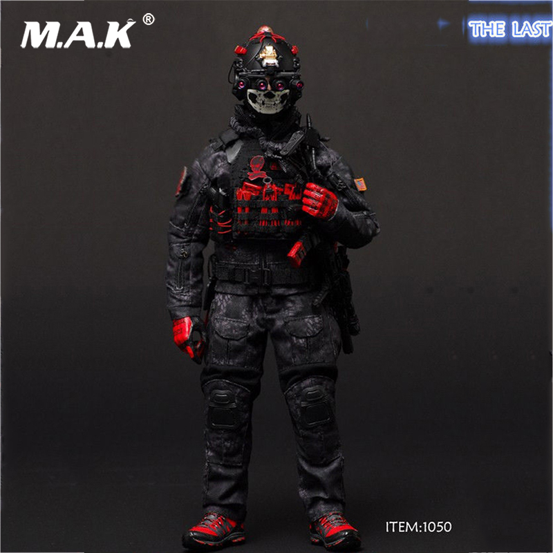 1:6 Scale Military Soldiers' Camouflage Combat Clothes VH 1050 Black ZERT THE LAST 1/6 Military Sets Fit 12 Male Figures