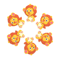 Silicone Teether Lion 2pcs/lot Cartoon Silicone Pendant Necklace Teething Toy for Baby BPA Free Silicone Teething Necklace