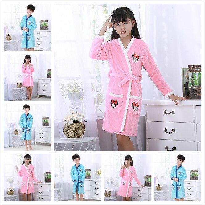 Sporting Einzelhandel Flanell Baby Jungen Mädchen Robe, Kinder Pyjamas, Kinder Bademantel, Mantel Nachthemd, Frühling Herbst Winter Bad Roben Wl861