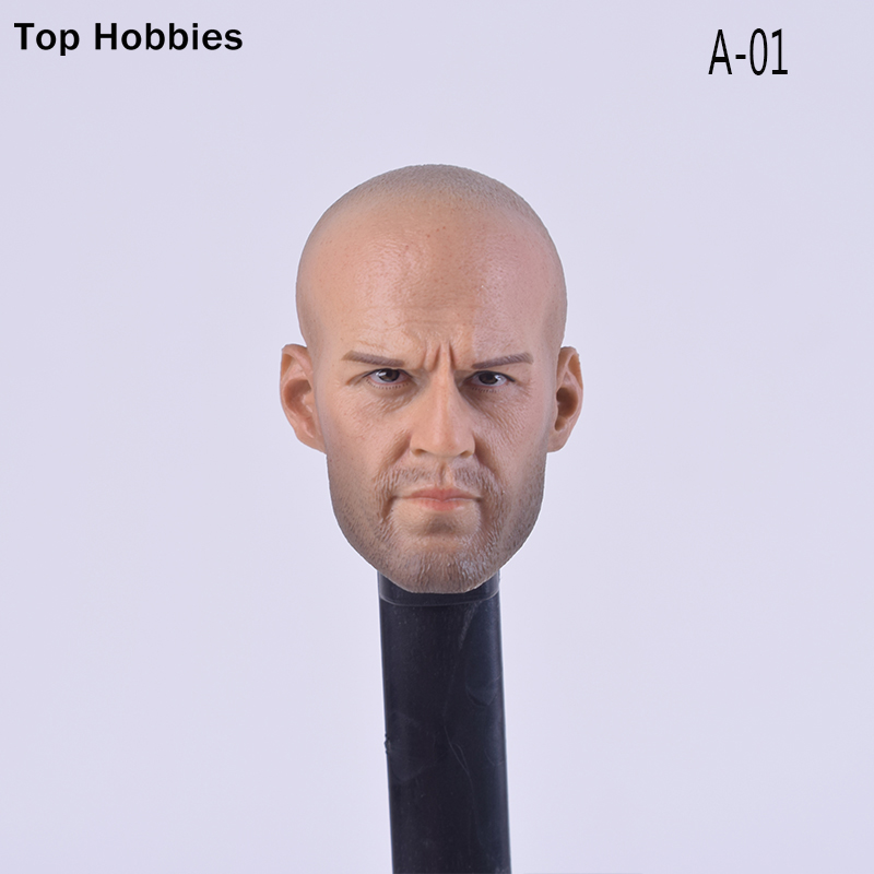 "1/6 Scale Jason Statham Head Sculpts Model Toys A-01 Man Carving Model For 12"" Male Phicen Action Figure Model HT TTL Doll"