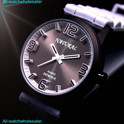 FW848D Black Dial Silicone Light Gray Band Unisex 100% Tested 3ATM Fashion Watch