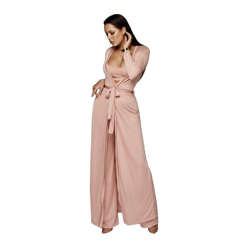 3 Piece Set Women Clothes 2018 Celebrity Sexy Crop Top+Pants+Coat Stretch Bodycon Linen Plus Size Rompers Jumpsuits xl xxl 30
