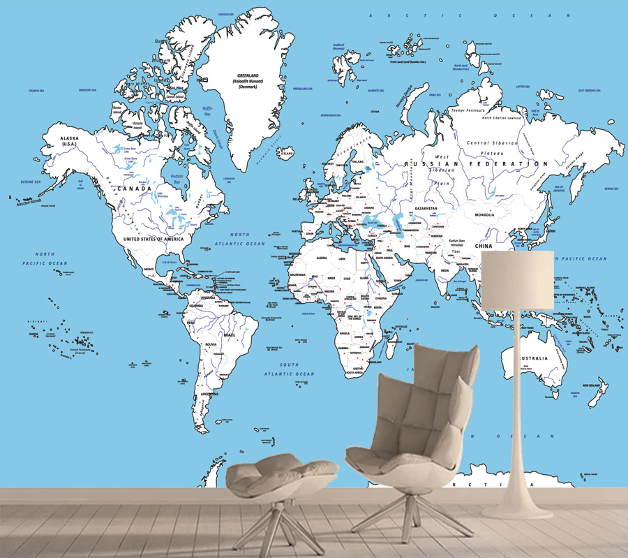 9640d3 Buy Map Wallpaper Peel And Stick And Get Free Shipping Zw