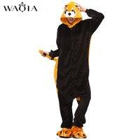 WAQIA 2018 New Onesie Wholesale Kigurumi Animal Raccoon Onesies Adult Unisex Women Hooded Sleepwear Adult Autumn
