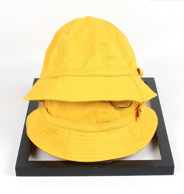 New spring summer women bowknot yellow bucket hat for girl Maruko lovely  windproof fisherman hat outdoor 24a0608877e