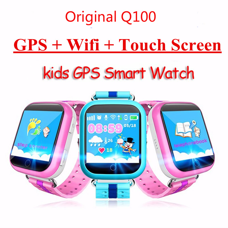 Original Q100 Q750 Smart Baby children Kids phone GPS Tracker Smart Watch kids GPS Wifi Location child SOS Call Anti-Lost Device wireless service call bell system popular in restaurant ce passed 433 92mhz full equipment watch pager 1 watch 7 call button