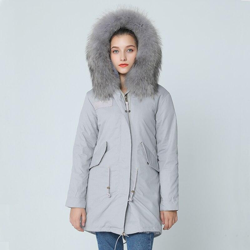 OFTBUY 2017 brand new grey winter jacket coat women parka with ...