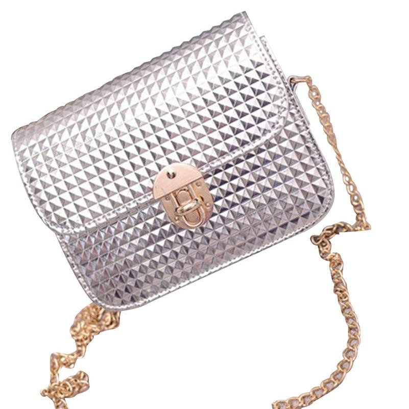 Women leather Shoulder Bag Satchel Handbag Retro Messenger Bag Chain Shoulder St