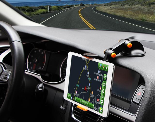 Dobrável ajustável de sucção rotativo gps suporte suporte de montagem do carro do telefone móvel para huawei g9 plus, mate s2, para xiaomi redmi note 4