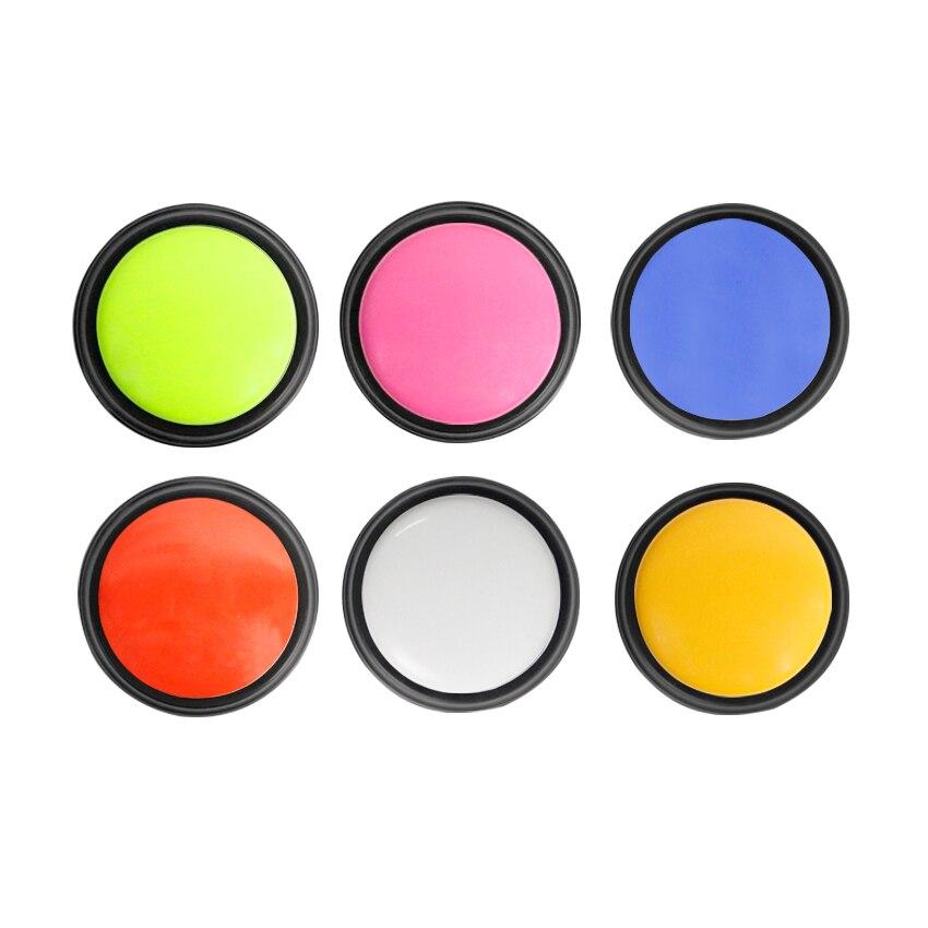 6 colores/set blanco, rosa, azul, verde, naranja y rojo personalizado 30 s sonido grabable tiempo Botón de contestación