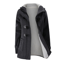 Women's Fashion Trench Coat Autumn Thick Lining Winter Jacket Overcoat Female Casual Long Hooded Coat Zipper Horn Button цена 2017