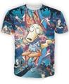 Verano de manga corta para arriba Rocko de Rockverse camiseta de edad de Nickelodeon Cartoon Galaxy espacio o20615 muñequera Haut Femme mujeres / hombres