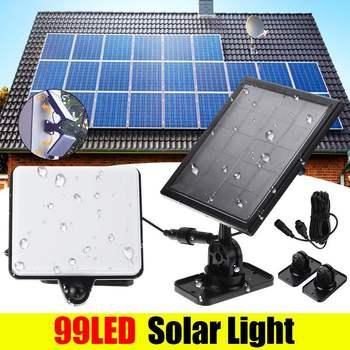 Waterproof 99 LED Solar Panel Motion Sensor Light Wall Lamp Security Lighting New Outdoor Solar Sensor Garden Yard Wall Light