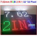 P7.62 Led panel 2 in 1, 244mm * 244mm, big rgb module,p7, 32 * 32 pixel, 1/16 scanner,1500 nits,economic price,7.62mm led module