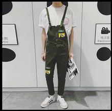 2016 GD new spring and summer Rompers men overalls feet Slim suspenders jeans Siamese one piece trousers singer costumes pants