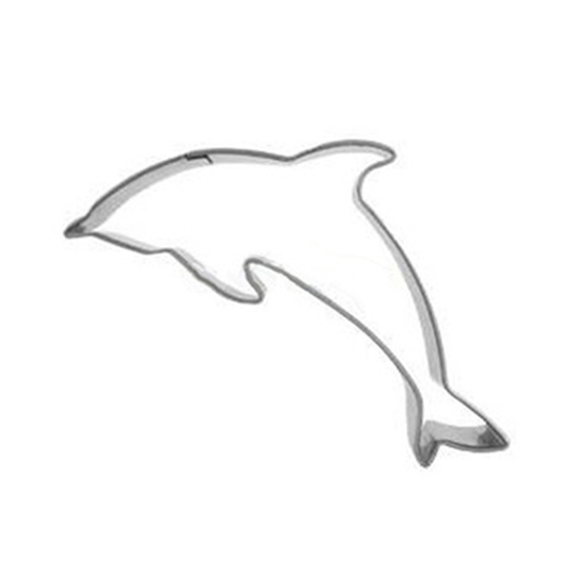 Hot Sale Stainless Steel Dolphin Cutter Cookie Mold Cut Mold Christmas Biscuit Cutters Marine Animal Shape Cake Die Cutter Gifts