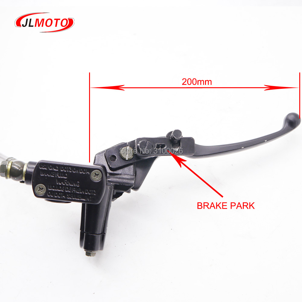 Just 1set 2 In 1 Front Handle Lever Hydraulic Disc Brake 108mm Disc Fit For Atv 50cc 110cc 49cc Bike Go Kart Buggy Utv Scooter Parts Atv,rv,boat & Other Vehicle Atv Parts & Accessories