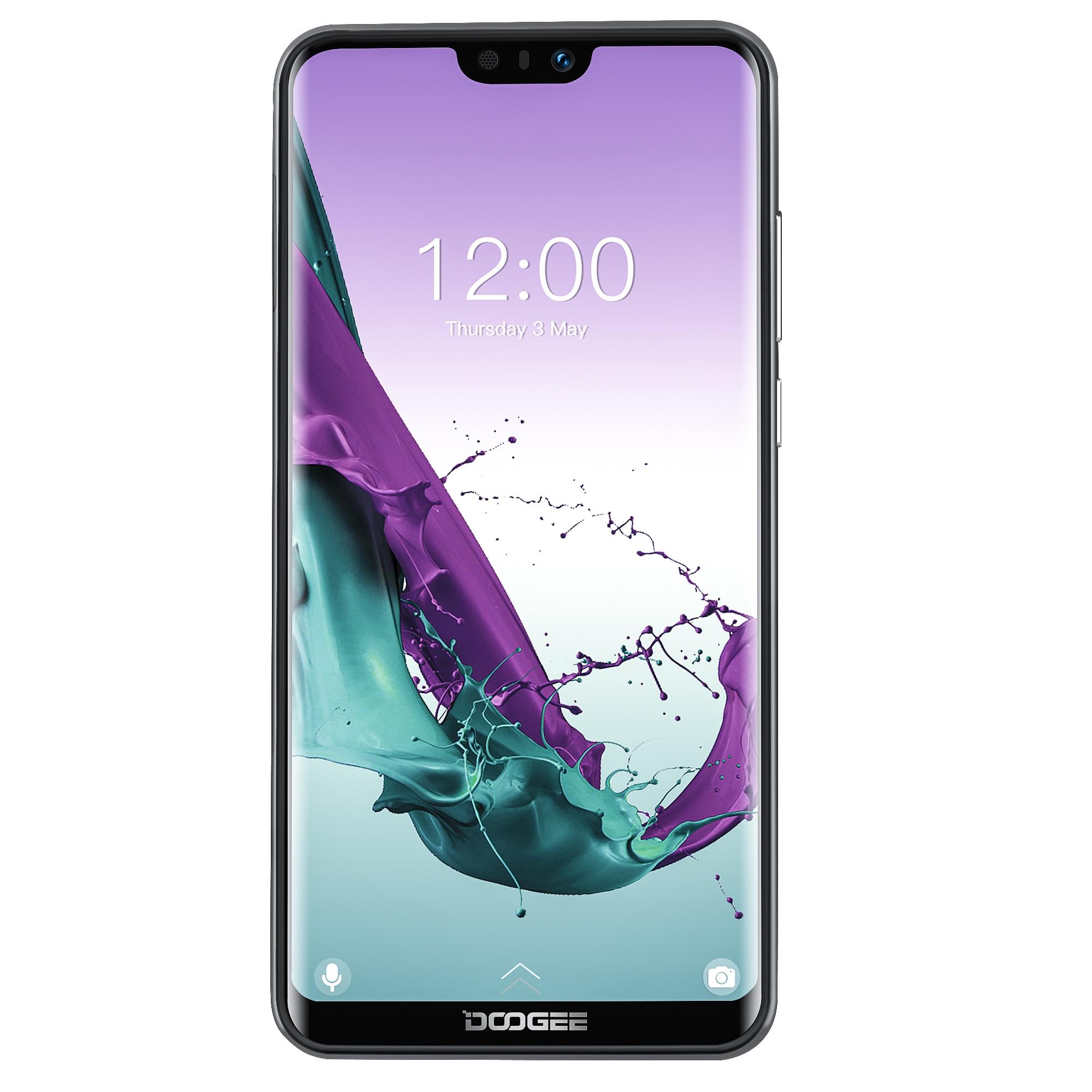 Doogee n10 2019 android 8.14g lte telefone móvel 5.84 polegada octa núcleo 3 gb ram 32 gb rom fhd 19:9 display 16.0mp câmera frontal 3360 mah