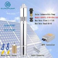 EUROPUMP MODEL(3EPST1.3/50 D24/140) Manufacturer solar water pump price, 24v dc submersible solar pump dc submersible solar pump