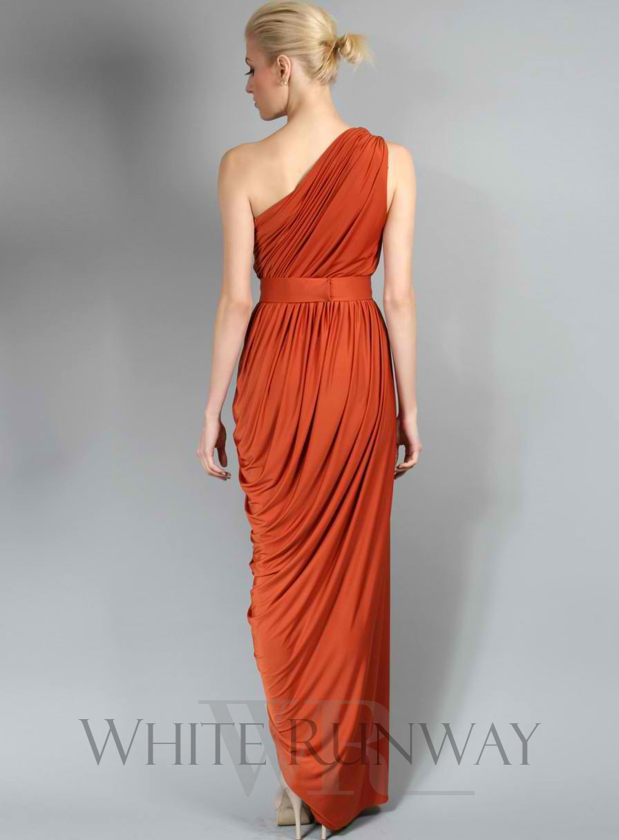 High quality one shoulder pleated chiffon brown sexy long western high quality one shoulder pleated chiffon brown sexy long western bridesmaid dresses 2015 cheap prom dress party gowns china in bridesmaid dresses from ombrellifo Image collections
