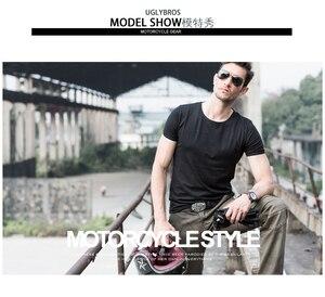 Image 2 - Mais novo quente vendas uglybros motorpool ubs06 jeans lazer calças de brim da motocicleta do exército locomotiva motor calças duas cores