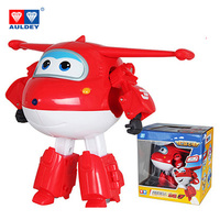 14cm ABS Super Wings Deformation Big Airplane Robot Action Figures Super Wings Transformation Toys For Children
