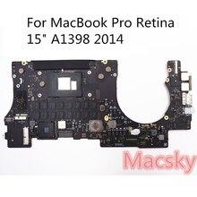 Оригинальный тестирование материнской платы для MacBook retina 15 «Late2013 2014 A1398 i7 2,2 2,3 GHz 2,6 ГГц 16 GB Оперативная память материнскую плату 820-3662-A