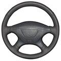 Black Artificial Leather Car Steering Wheel Cover for Mitsubishi Pajero Sport 2004 Montero Sport 2004