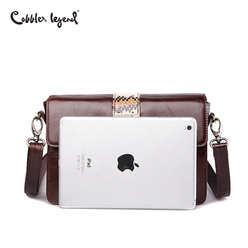 Cobbler Legend Brand Serpentine Women Messenger Bags Genuine Leather Crossbody Bags Women Ladies Shoulder Bag 2019 Famous Clutch in Shoulder Bags from Luggage Bags